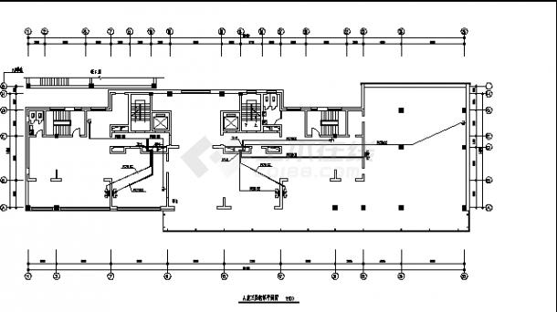 内蒙某多层住宅楼弱电系统设计施工cad图纸-图一