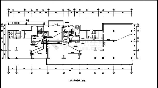 内蒙某多层住宅楼弱电系统设计施工cad图纸-图二