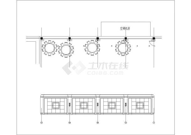 上海红子鸡餐厅室内精装修设计cad全套施工图( 含设计说明,含效果图)-图一