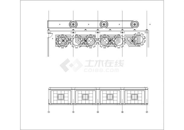 上海红子鸡餐厅室内精装修设计cad全套施工图( 含设计说明,含效果图)-图二