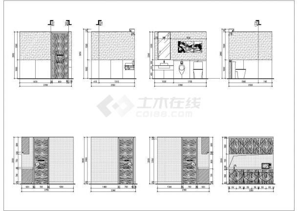 温州某五星级豪华酒店中餐厅室内装修设计cad全套施工图(含效果图)-图二