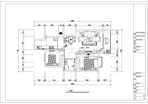 现代简洁风格住宅全套装修施工图-图一