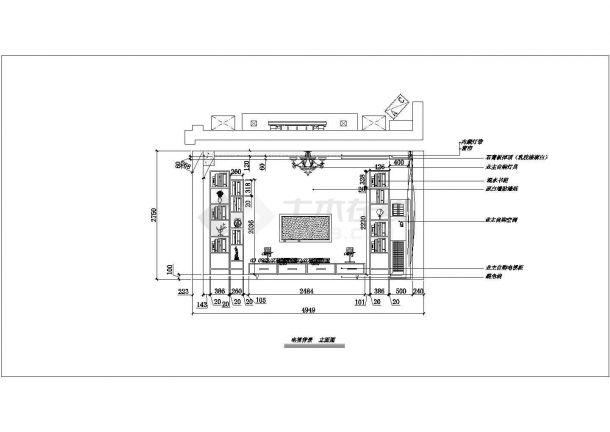 现代简洁风格住宅全套装修施工图-图二