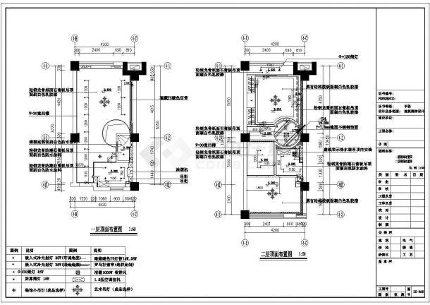 2室2厅复式单身公寓全套装修施工图-图二