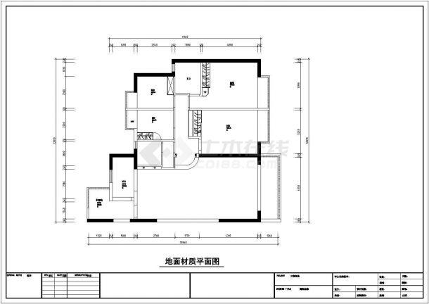 4室2厅欧式风格住宅装修施工图-图一