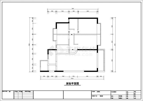 4室2厅欧式风格住宅装修施工图-图二