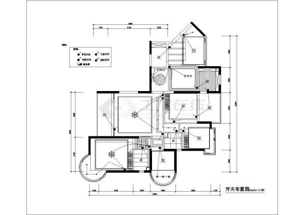 4室2厅高档住宅全套装修施工图-图一