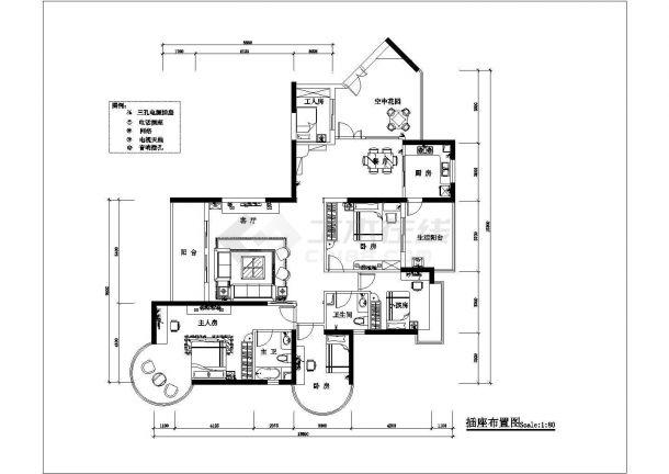 4室2厅高档住宅全套装修施工图-图二