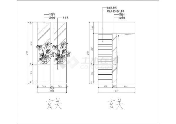 4室2厅复式住宅装修施工图-图二