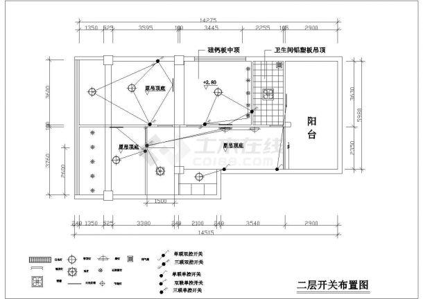 4室复式住宅全套装修施工图-图二
