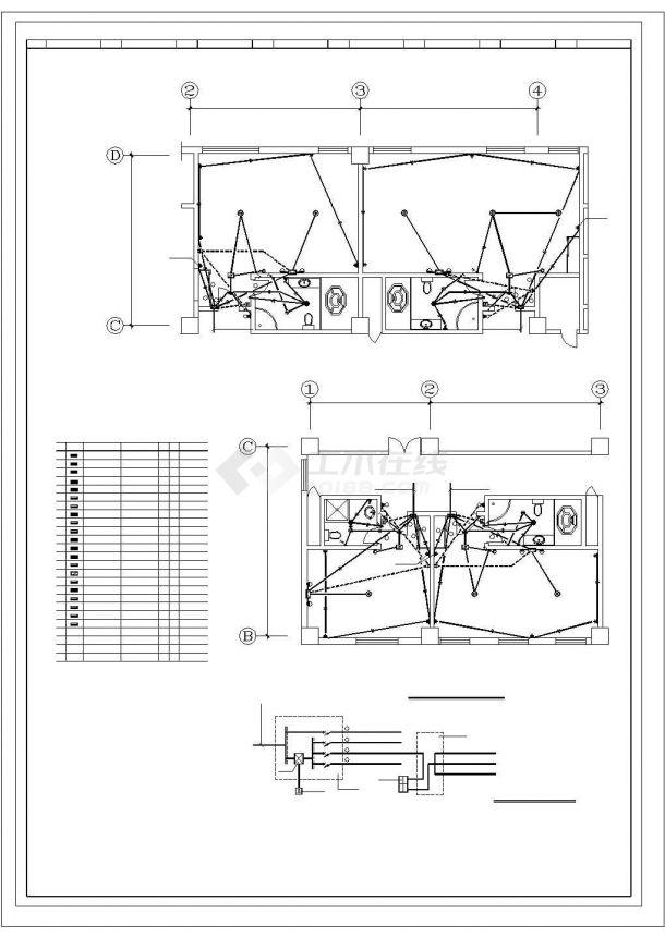 详图设计_高层宾馆电气设计图纸-图二