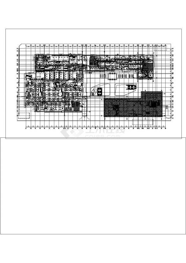 某多层大型商业楼空调通风及防排烟系统毕业设计CAD资料-图一