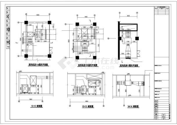 某国际商贸中心通风空调及防排烟系统毕业设计CAD资料-图二