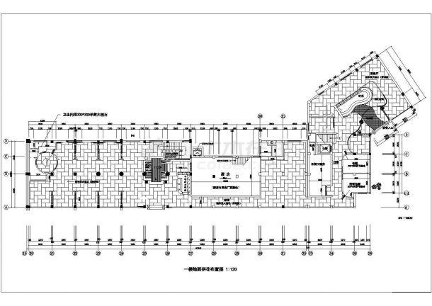 乌鲁木齐市人民路某2层框架结构高档中餐厅装修装饰设计CAD图纸-图二