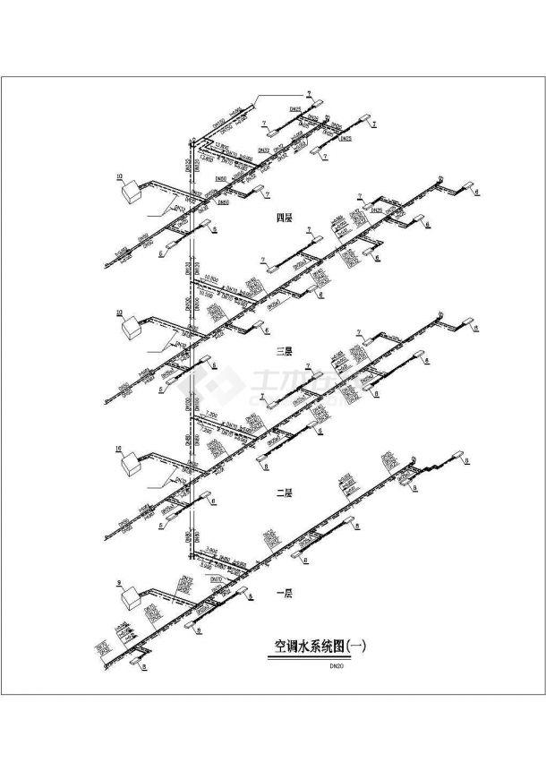 某商业综合楼空调通风及防排烟系统毕业设计CAD资料-图一