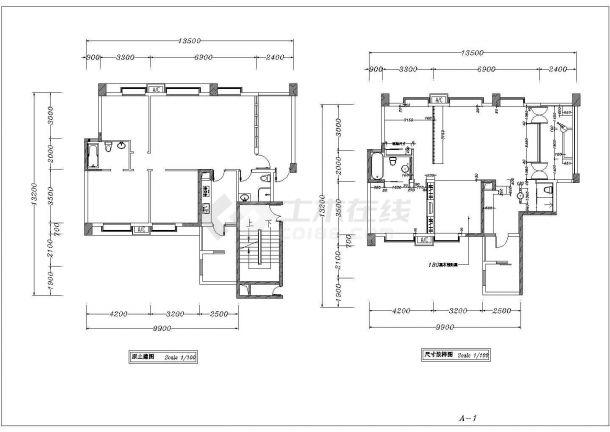 中式古典住宅全套装修施工图-图一