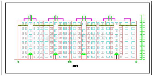 某地区多层住宅楼设计施工建筑cad图纸-图一