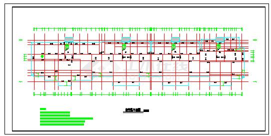 某地区多层住宅楼设计施工建筑cad图纸-图二