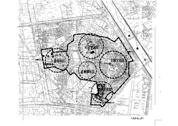 福州某公园景观设计cad总平面方案图-图二