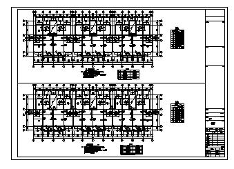 住宅楼设计_某五层带地下室框架结构住宅楼结构施工cad图纸-图二