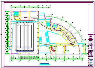 某大型体育馆全套电气cad设计图-图一