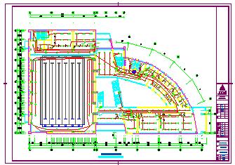 某大型体育馆全套电气cad设计图-图二