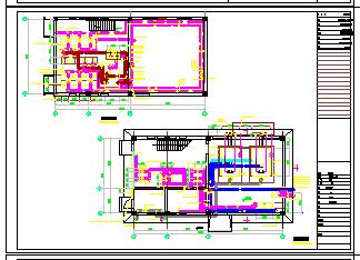 某小区供热锅炉房建筑cad设计图-图一