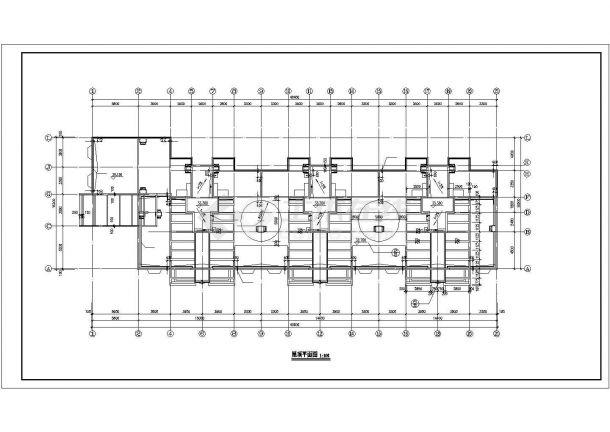 武汉市新阳嘉园小区10层框架结构住宅楼平面设计CAD图纸(含机房层)-图一