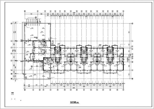 武汉市新阳嘉园小区10层框架结构住宅楼平面设计CAD图纸(含机房层)-图二