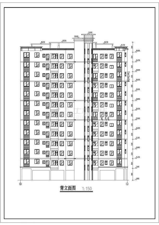 淮安市熙阳花园小区13层框架结构住宅楼建筑设计CAD图纸(含架空层)-图一