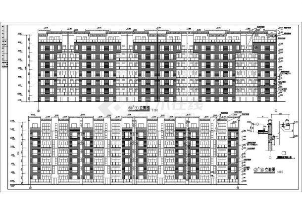 德阳市世安花苑小区七层框架结构住宅楼建筑设计CAD图纸(含杂物间层)-图一