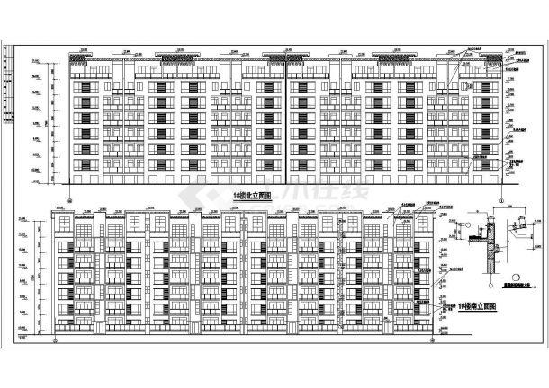 德阳市世安花苑小区七层框架结构住宅楼建筑设计CAD图纸(含杂物间层)-图二