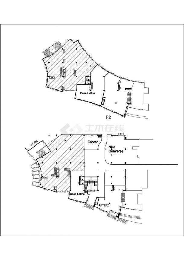某大型服装展厅现代风格室内装修设计CAD施工图(含效果图)-图一