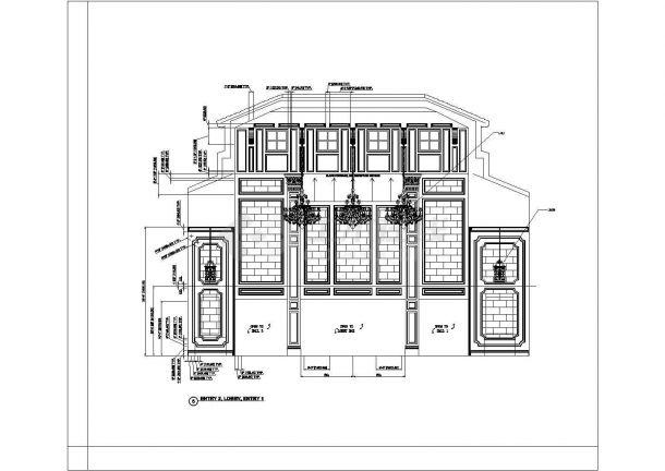 某美式风格会所室内装修设计cad全套施工图-图一