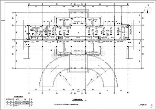 江阴市某大型商业综合体暖通空调系统及动力站设计施工CAD图纸-图二