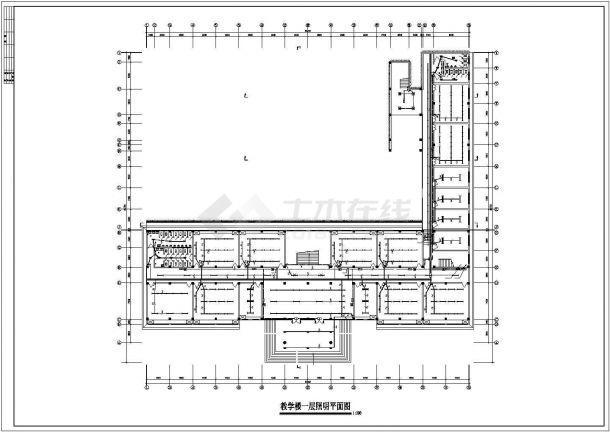 某教学楼电气施工设计方案图-图二