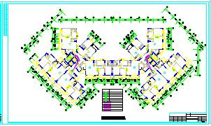 某高层住宅楼消防电气全套CAD设计图纸-图一