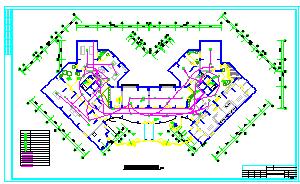 某高层住宅楼消防电气全套CAD设计图纸-图二