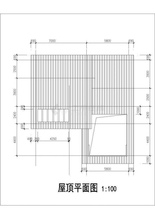某地多层新潮别墅建筑结构设计图-图一
