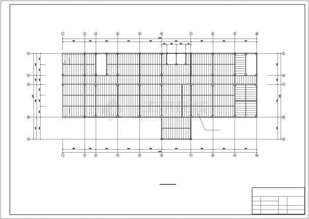 许昌市某工业单位6层钢框架结构办公楼全套结构设计CAD图纸-图一