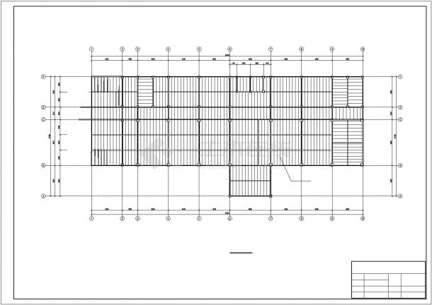 许昌市某工业单位6层钢框架结构办公楼全套结构设计CAD图纸-图二