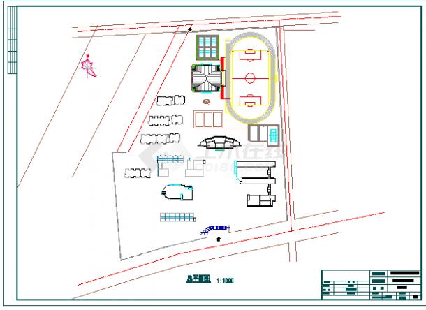 职业学校园林规划设计CAD图-图一