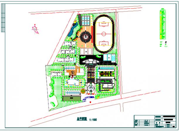 职业学校园林规划设计CAD图-图二