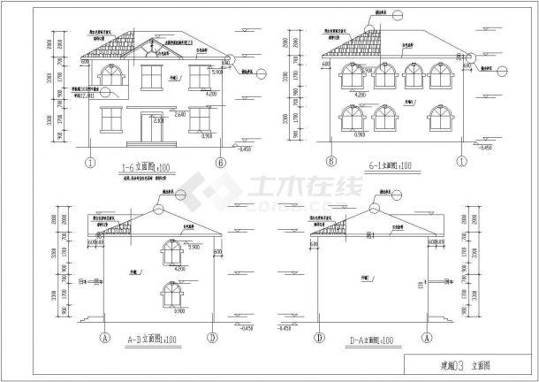 某砖混住宅楼土建工程毕业设计CAD资料(含结构计算书、结构图纸)-图一