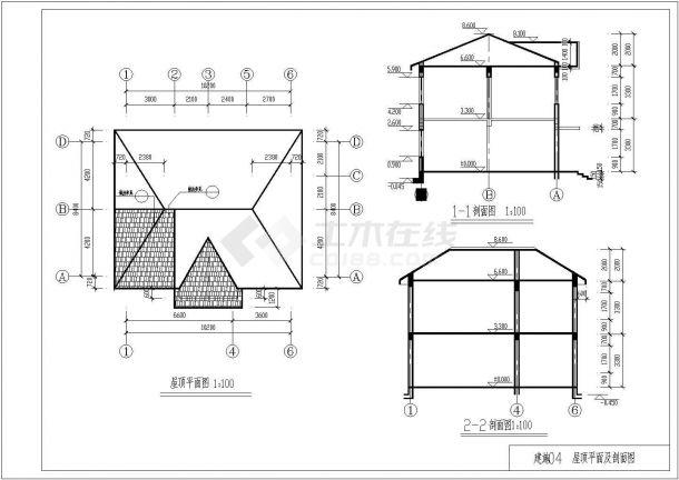 某砖混住宅楼土建工程毕业设计CAD资料(含结构计算书、结构图纸)-图二