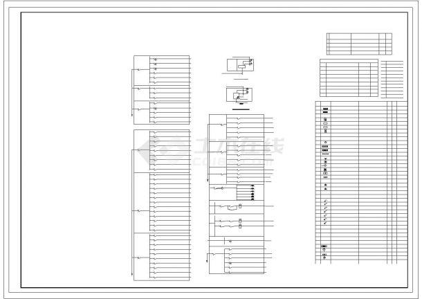 详细全套工厂电气设计图纸-图一