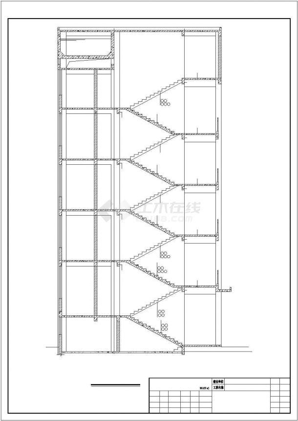 某小学综合楼建安工程毕业设计CAD资料(含结构计算书、结构图纸)-图一
