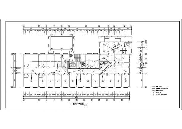 某七层医院电气消防设计图-图一