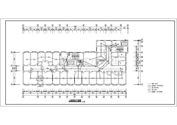 某七层医院电气消防设计图-图二