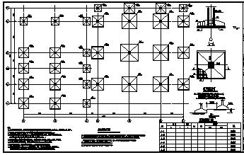 某3层框架结构商业楼结构施工cad图_商业楼施工-图二